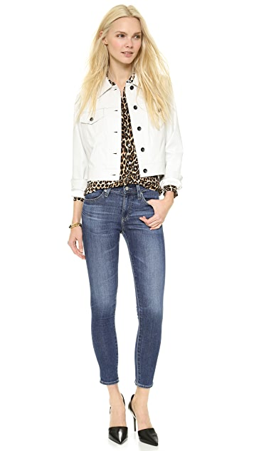 AG The Farrah High Rise Skinny Crop Jeans