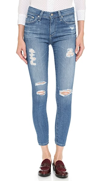 AG Farrah High Rise Crop Skinny Jeans - 14 Year Open Air