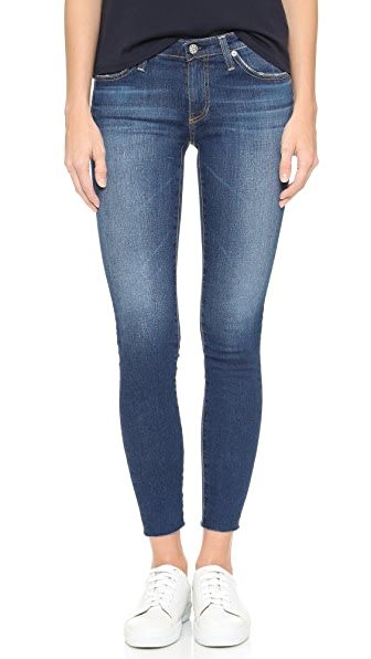 AG Raw Hem Legging Ankle Jeans