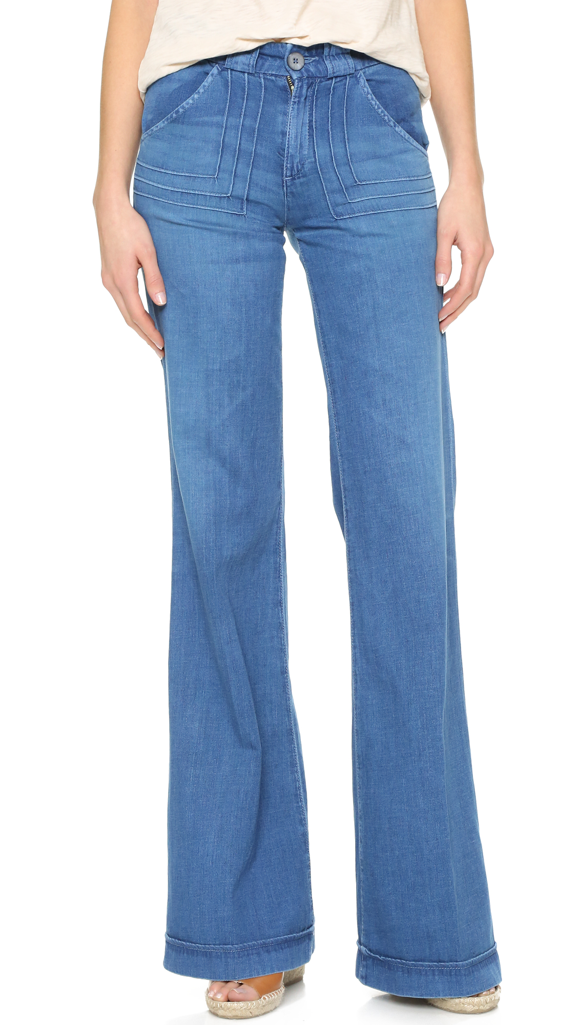AG The Carly Pintuck Wide Leg Jeans | 15% off first app purchase ...