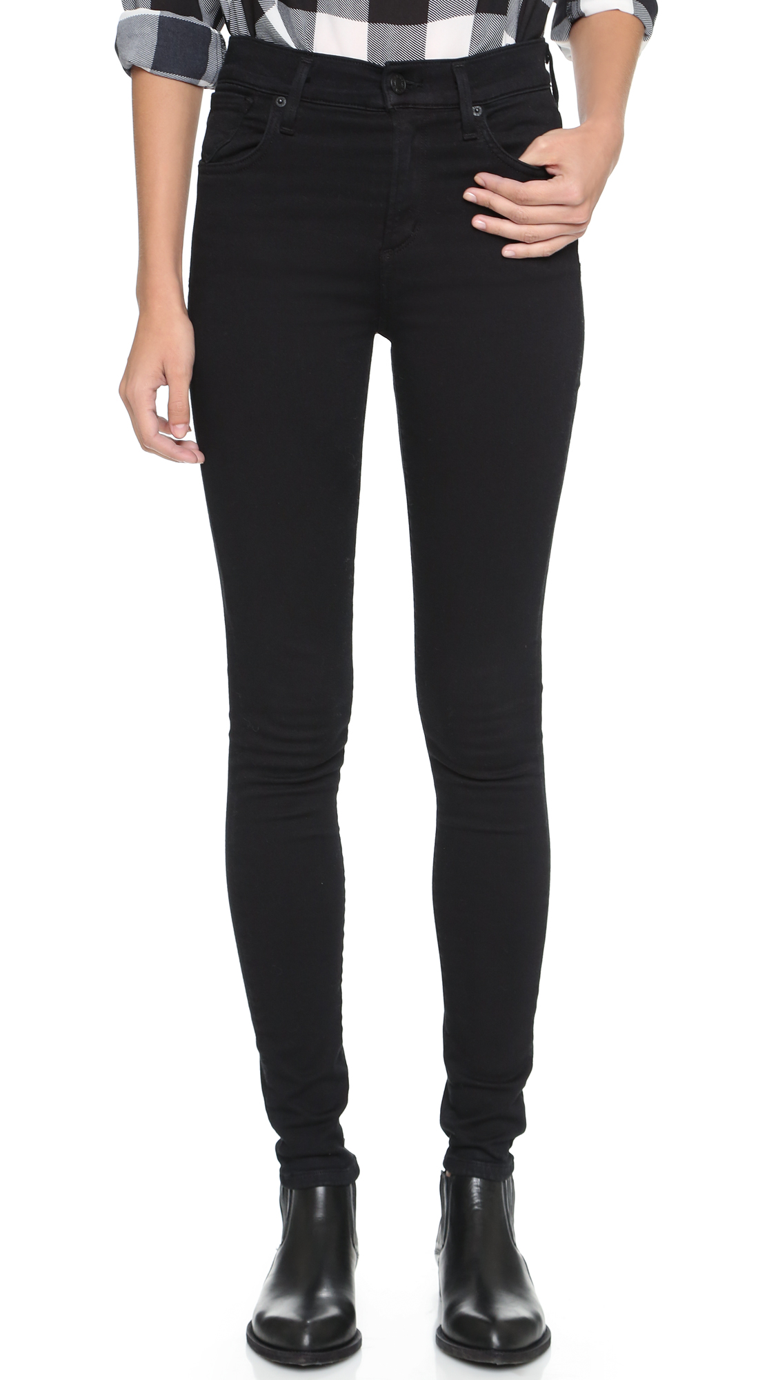Agolde Sophie High Rise Skinny Jeans - Luxe at Shopbop
