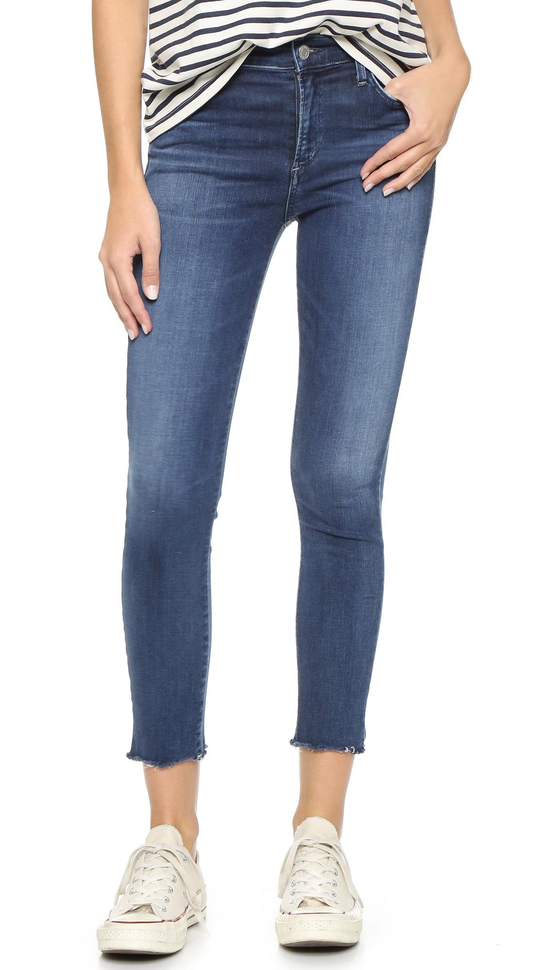 Agolde Sophie High Rise Skinny Crop Jeans - Claremont at Shopbop