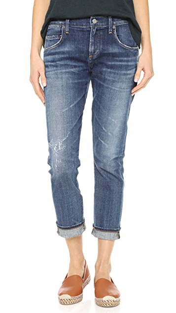 AGOLDE Isabel Slim Boyfriend Ankle Jeans