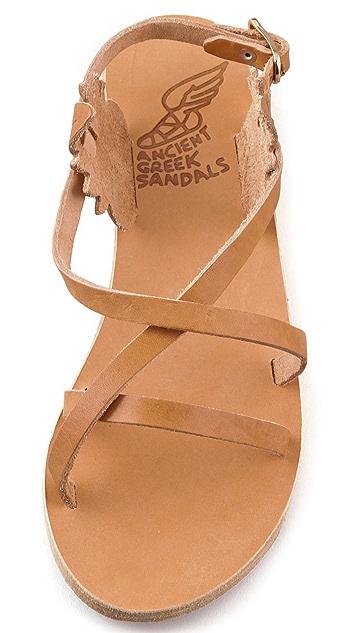 Ancient Greek Sandals Athena Crisscross Flat Sandals
