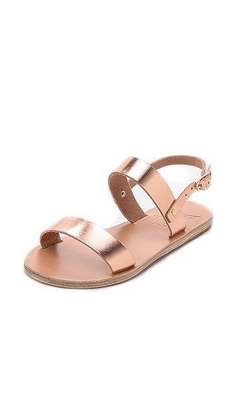 Ancient Greek Sandals Clio Metallic Sandals