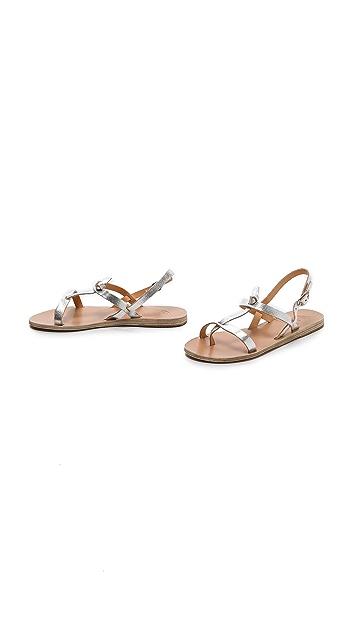 Ancient Greek Sandals Galini Flat Sandals