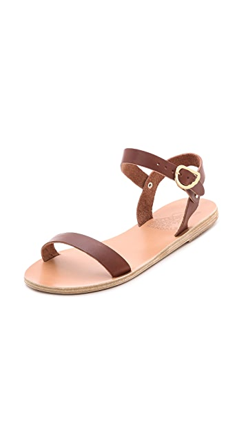 Ancient Greek Sandals Drama Ankle Strap Sandals