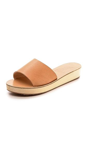 Ancient Greek Sandals Taygete Platform Slide Sandals