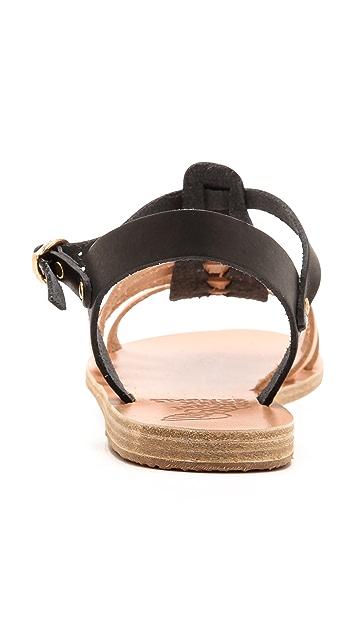 Ancient Greek Sandals Korinna Two Tone Gladiator Sandals