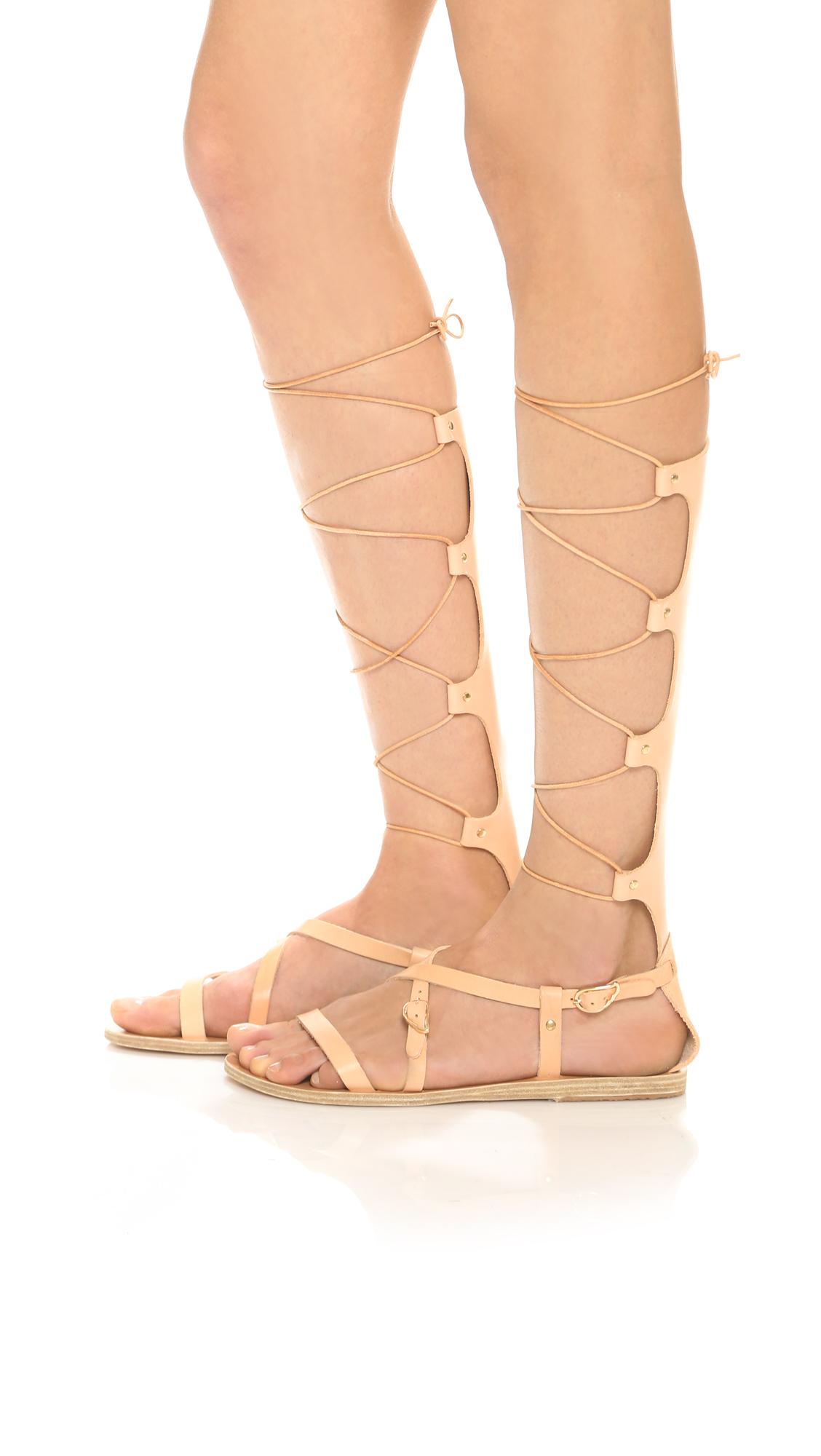 Sofia High leather gladiator sandals Ancient Greek Sandals No4Qgq