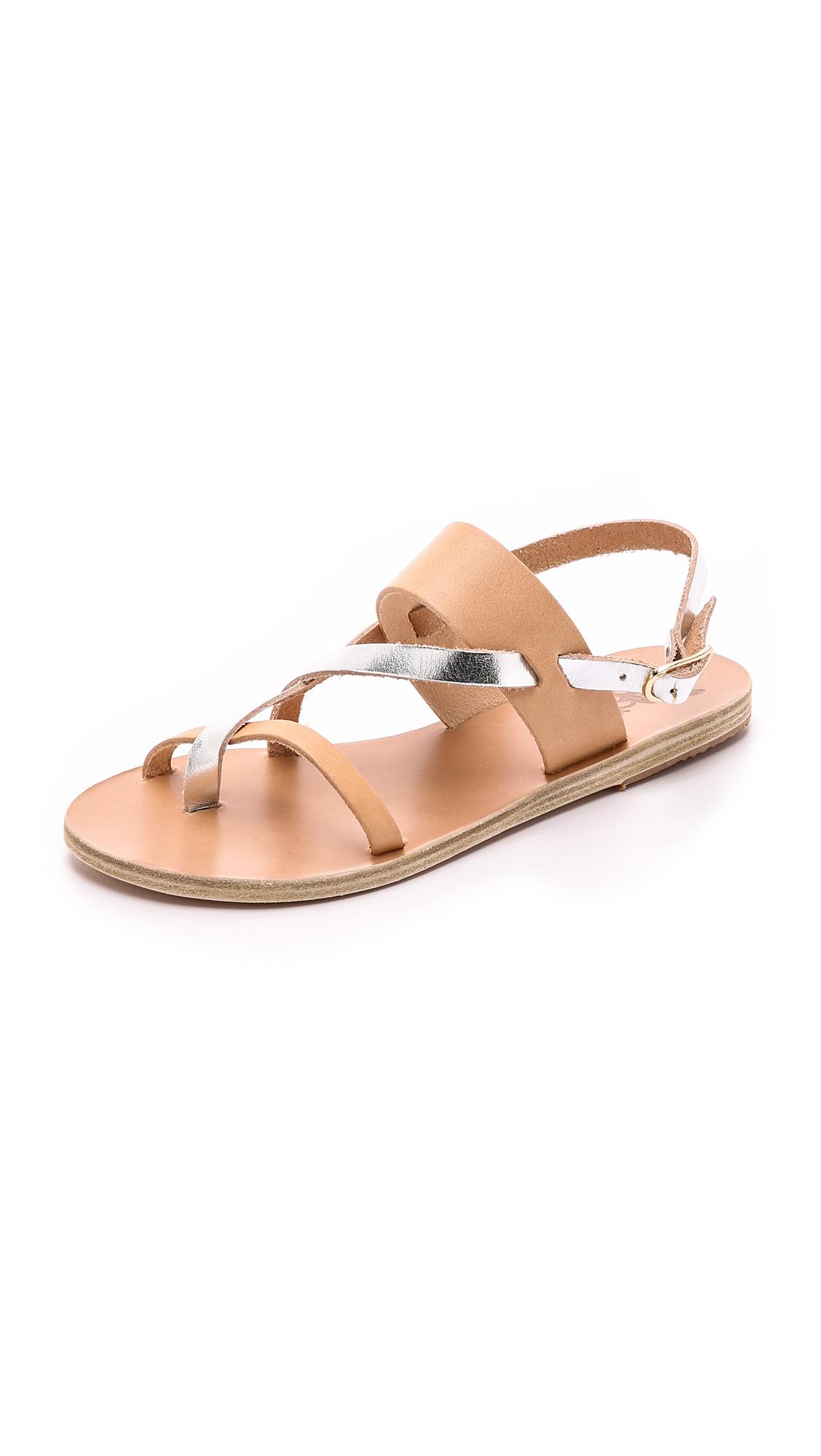Ancient Greek Sandals Alethea Sandals - Natural/Silver