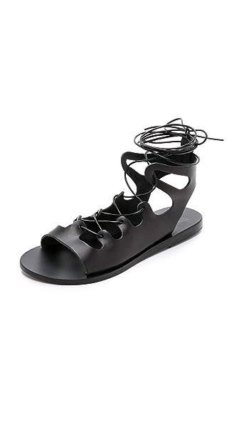 Ancient Greek Sandals Antigone Gladiator Sandals - Black at Shopbop