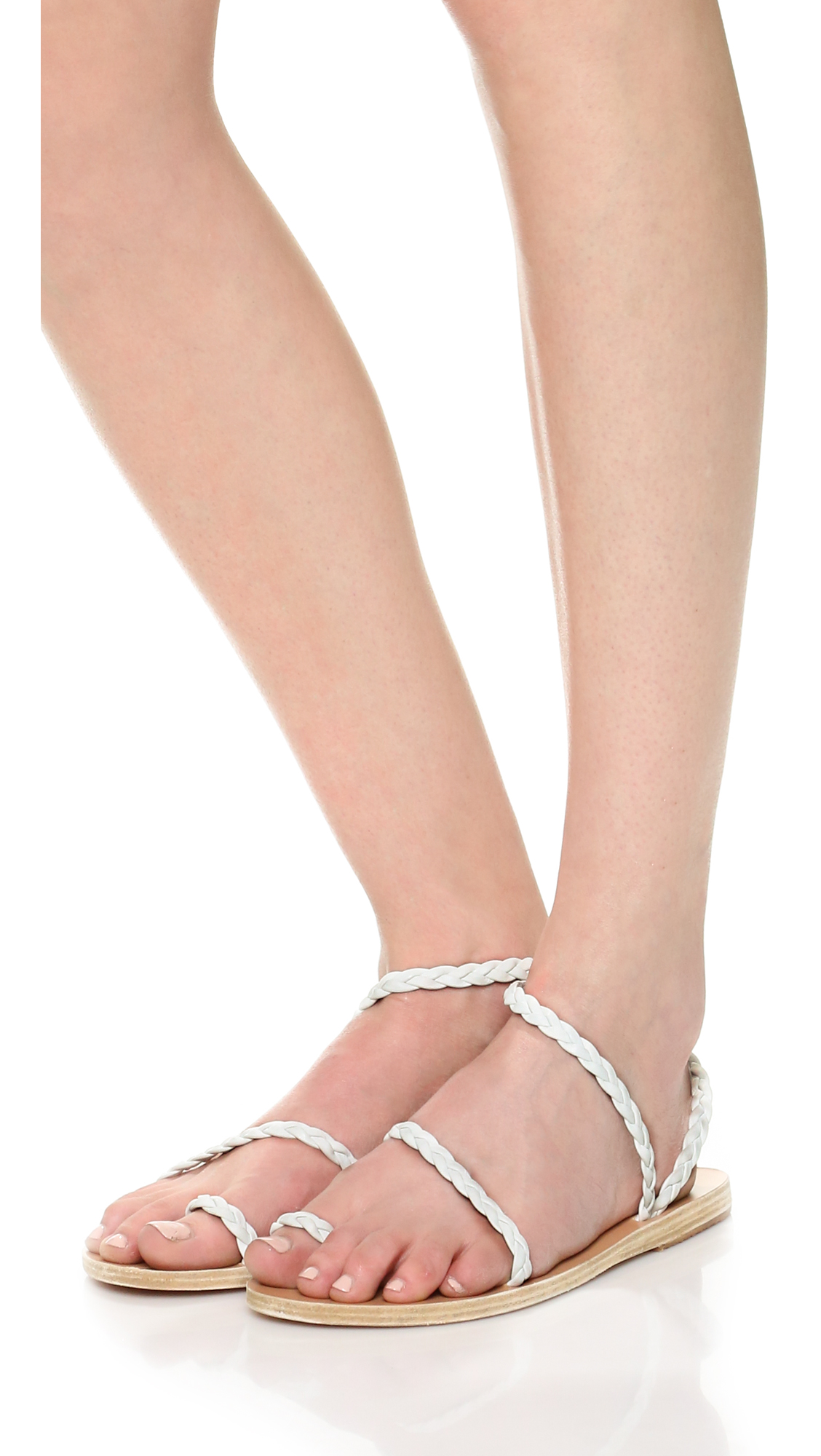 Ancient Greek Sandals Silver Eleftheria Leather Sandals