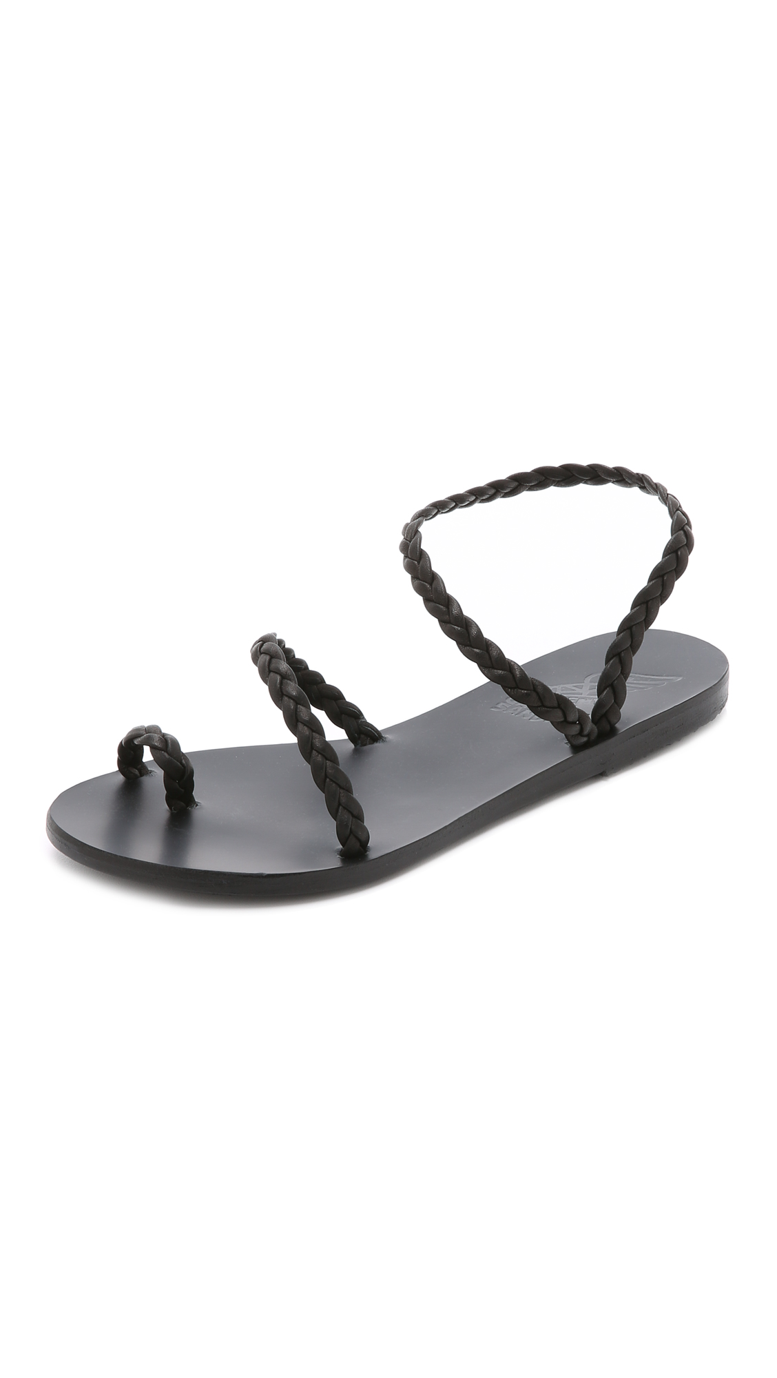 Ancient Greek Sandals Eleftheria Sandals - Black