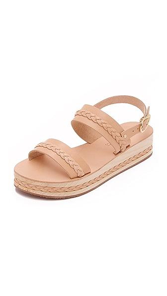 Ancient Greek Sandals Amphipolis Braided Platform Sandals - Natural at Shopbop