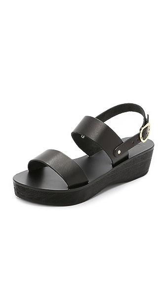 Ancient Greek Sandals Dinami Sabot Platform Sandals - Black at Shopbop