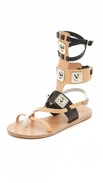 Ancient Greek Sandals Ancient Greek Sandals For Peter Pilotto Gladiator Sandals - Natural/Black/White at Shopbop