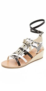 Ancient Greek Sandals for Peter Pilotto Wedge Gladiator Sandals                Ancient Greek Sandals