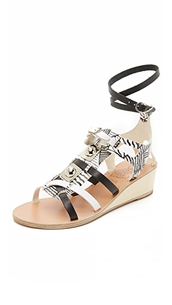 Ancient Greek Sandals Ancient Greek Sandals for Peter Pilotto Wedge Gladiator Sandals