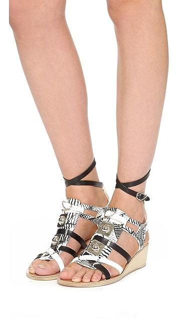 Ancient Greek Sandals Ancient Greek Sandals for Peter Pilotto Wedge Gladiator Sandals