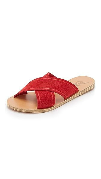 Ancient Greek Sandals Thais Crisscross Sandals - Red at Shopbop
