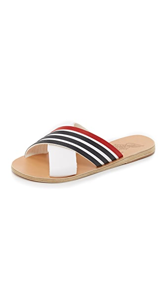 Ancient Greek Sandals Thais Crisscross Striped Sandals