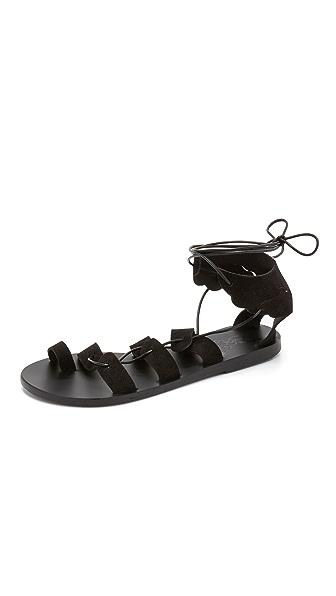 Ancient Greek Sandals Fteroti Gladiator Sandals - Black at Shopbop