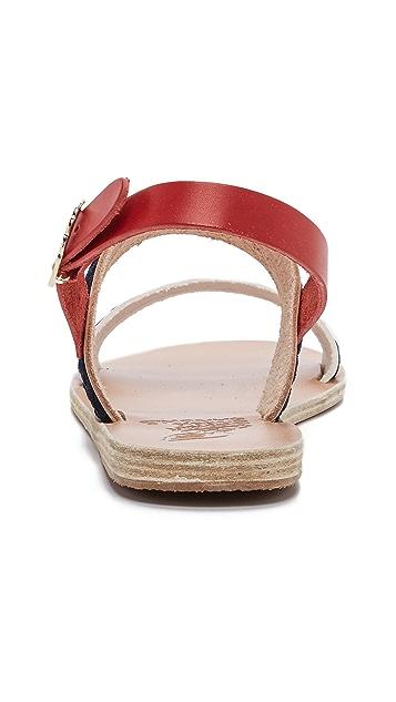 Ancient Greek Sandals Amphipolis Back Strap Flats