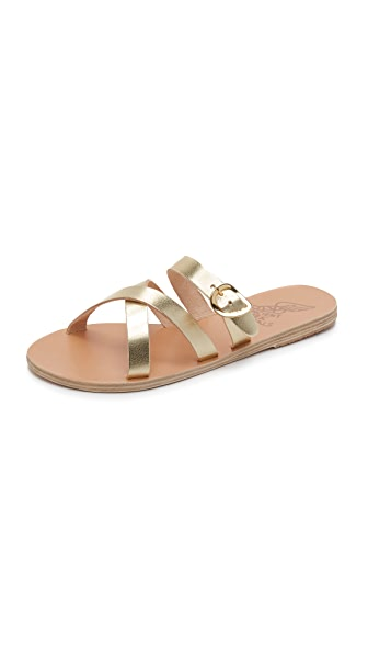 Ancient Greek Sandals Axia Slide Sandals - Platinum