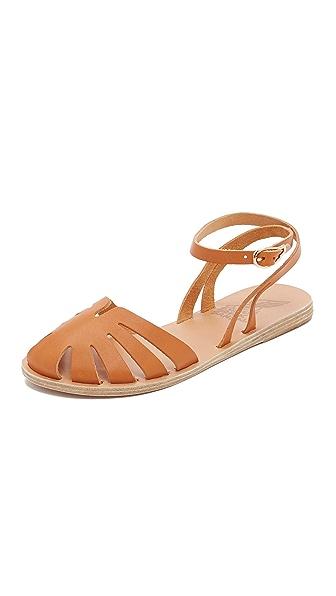 Ancient Greek Sandals Aella Flat Sandals - Cognac at Shopbop