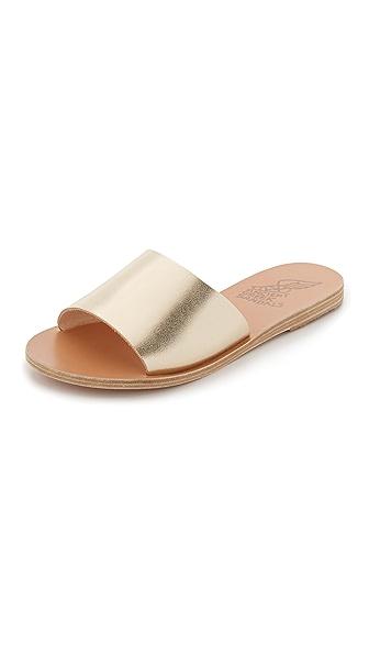 Ancient Greek Sandals Taygete Slides - Platinum at Shopbop