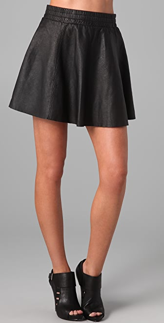 AIKO Stormy Leather Skirt
