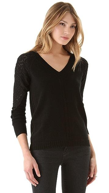 AIKO Lace Web Sweater