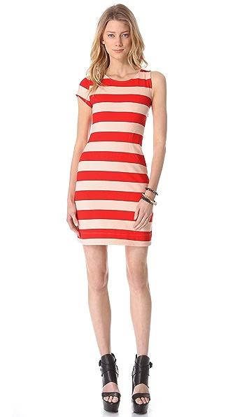 AIKO Laurette Chroma Striped Dress