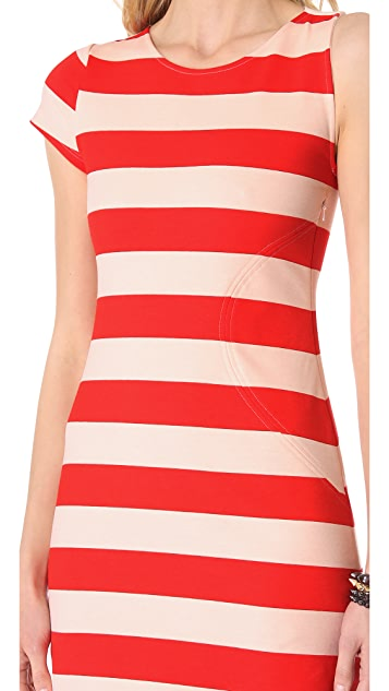 AIKO Laurette Chroma Striped Dress