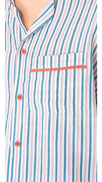 ALAS Dusk Stripe PJ Shirt
