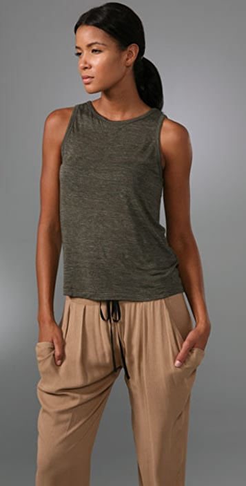 A.L.C. Open Back Sleeveless Top