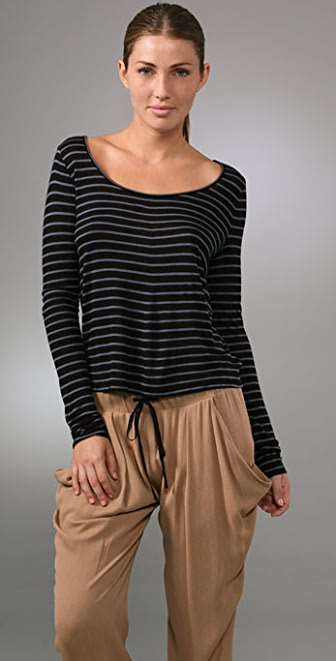 A.L.C. Striped Long Sleeve Tee