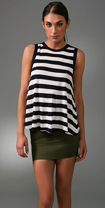 A.L.C. Sleeveless Sexy Back Top
