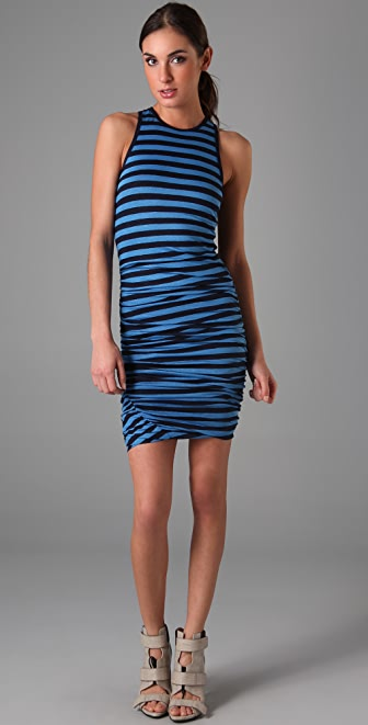 A.L.C. Striped Athletic Twisty Dress
