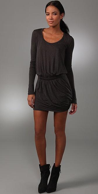 A.L.C. Scoop Neck Twisty Dress