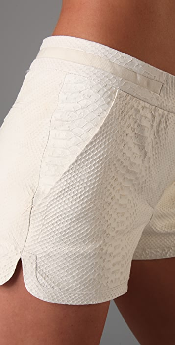 A.L.C. Embossed Leather Shorts