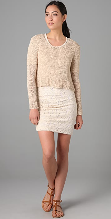 A.L.C. Open Knit Cropped Sweater
