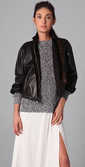 A.L.C. Noah Leather Bomber Jacket