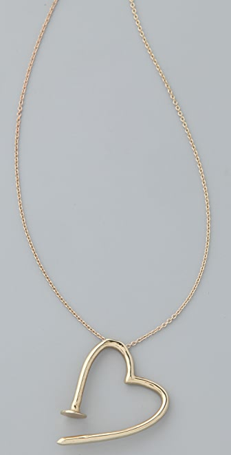 A.L.C. Bent Nail Heart Pendant Necklace