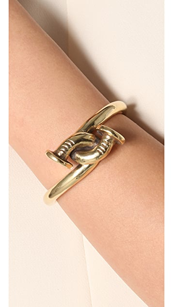 A.L.C. Large Twisted Nail Cuff
