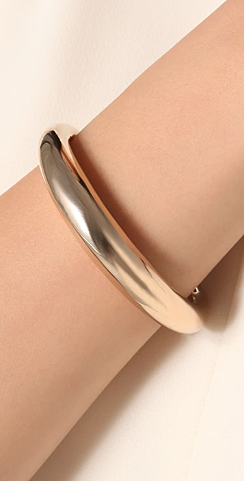 A.L.C. Brass Cuff With Silver Tips