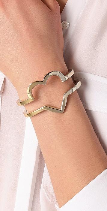 A.L.C. Heart Cutout Cuff