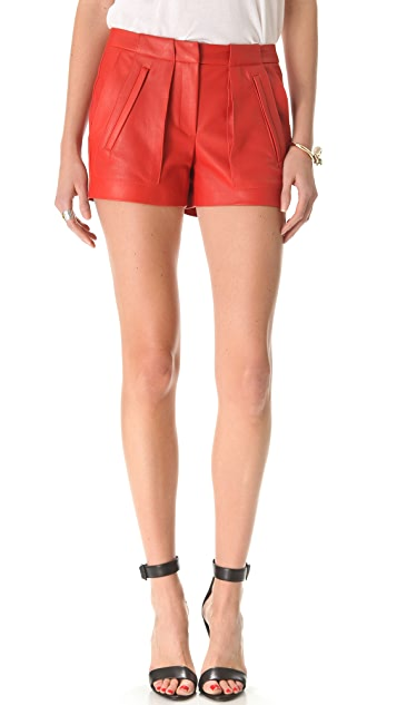 A.L.C. Smith Leather Shorts