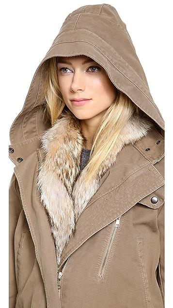 A.L.C. Forrest Fur Trim Jacket
